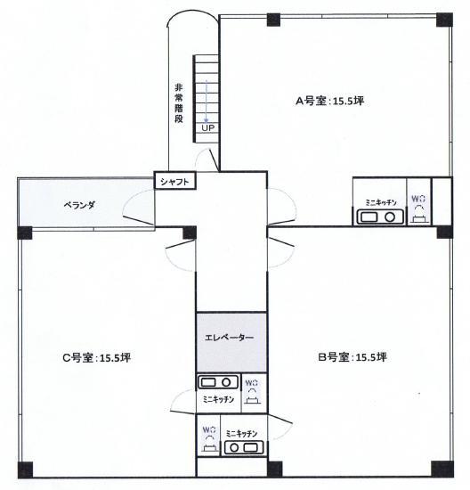 栄1 サカエビル22 平面図