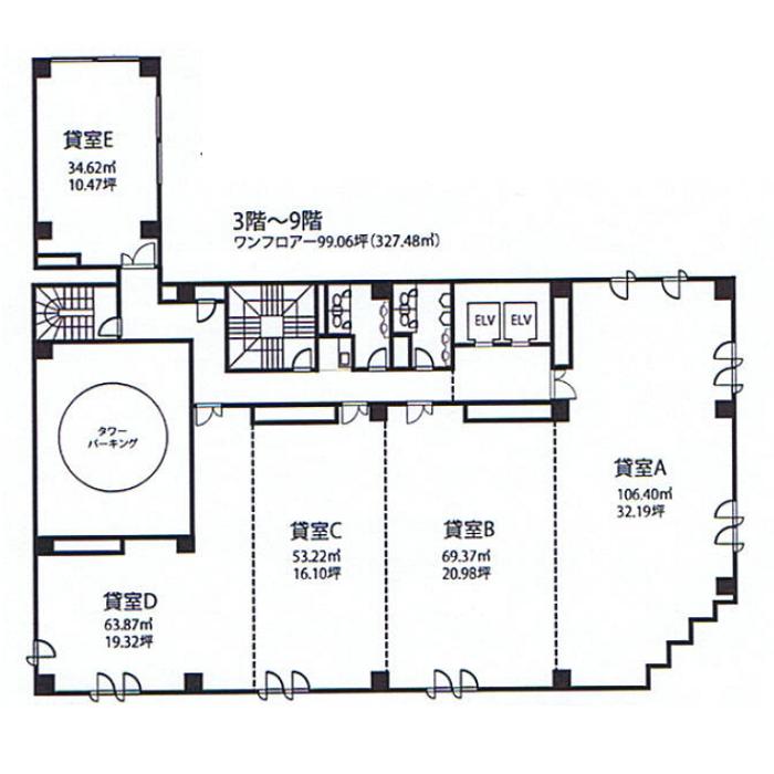 丸の内2 MS桜通 平面図