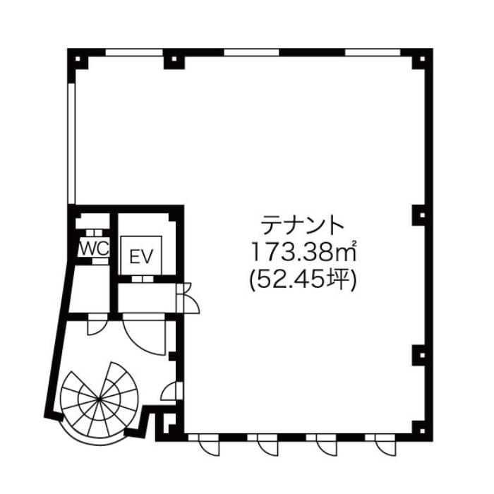 新栄2 愛知電球ビル 平面図