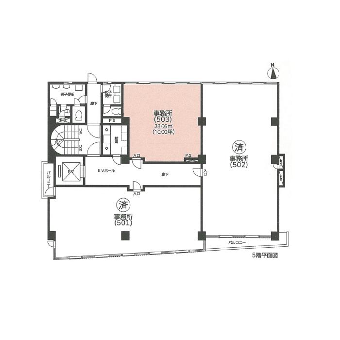 葵2 アバンテージ葵ビル 平面図
