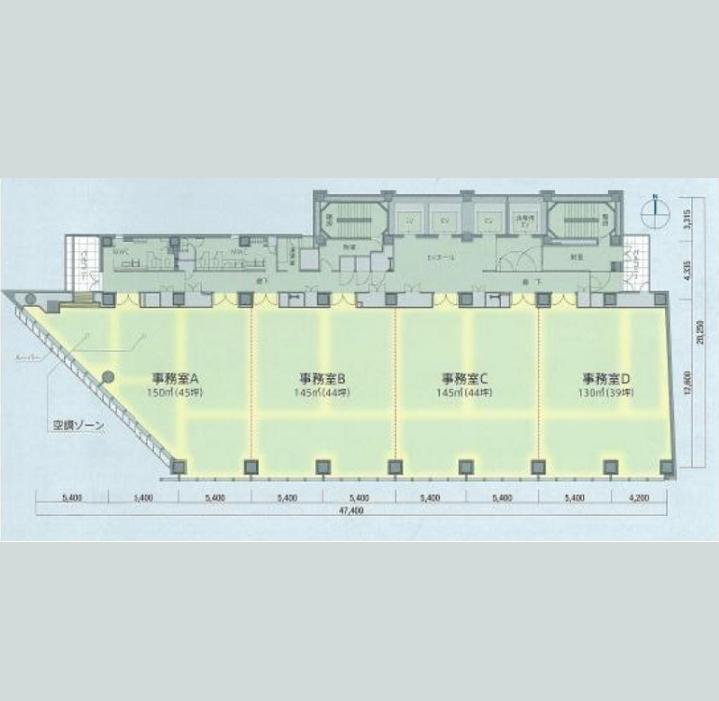 泉2 東海関電ビル 平面図