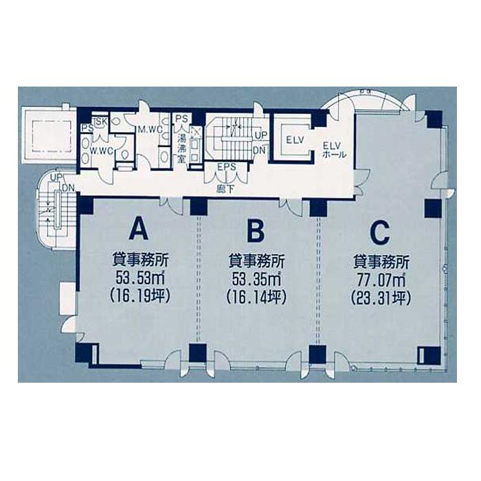 葵1 サッサセンタービル 平面図