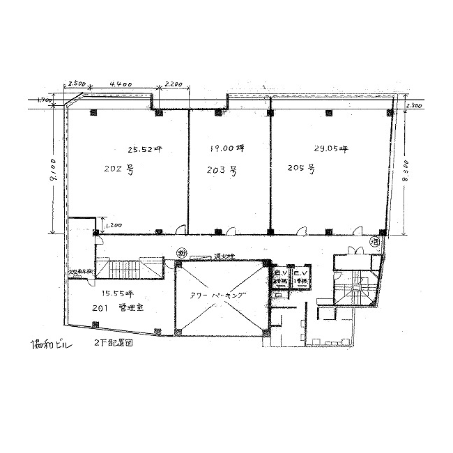 名駅2 協和ビル 平面図