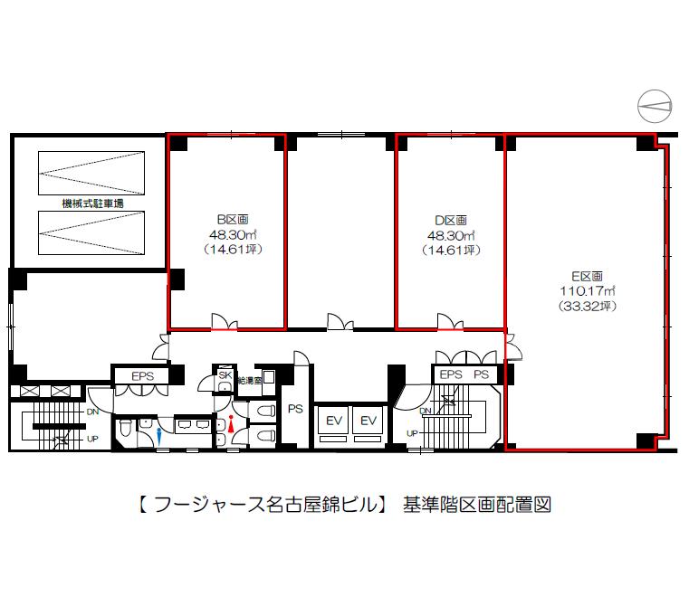 錦2 フージャース名古屋錦ビル 平面図