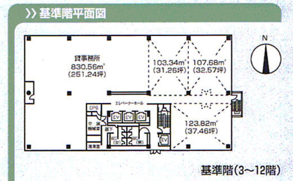 錦3 広小路本町ビルディング 平面図