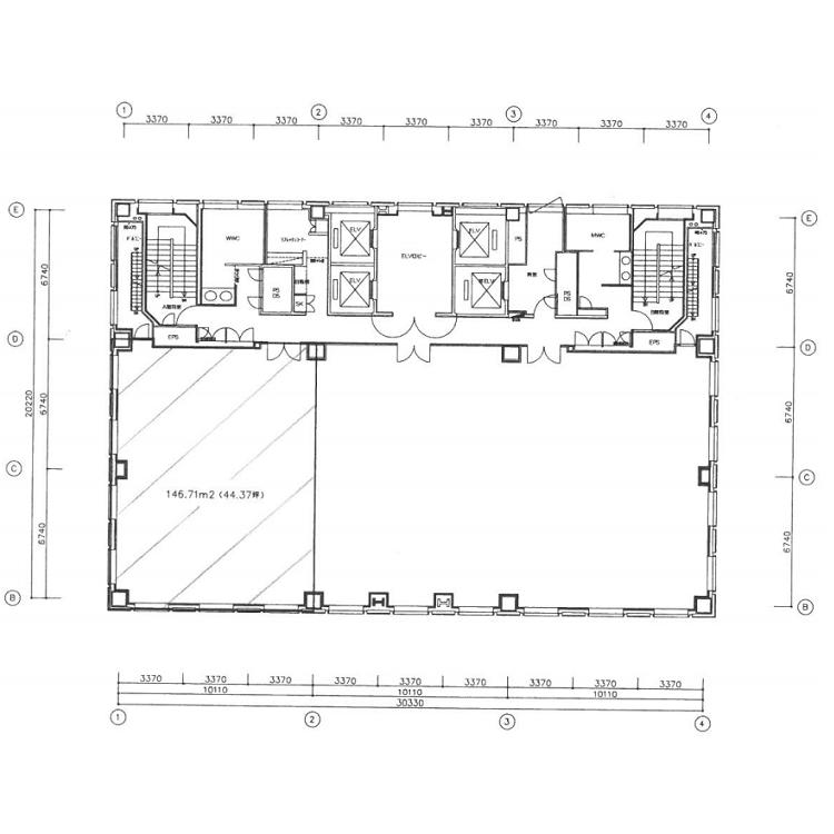 名駅2 あいおいニッセイ同和損保名古屋名駅ビル 平面図