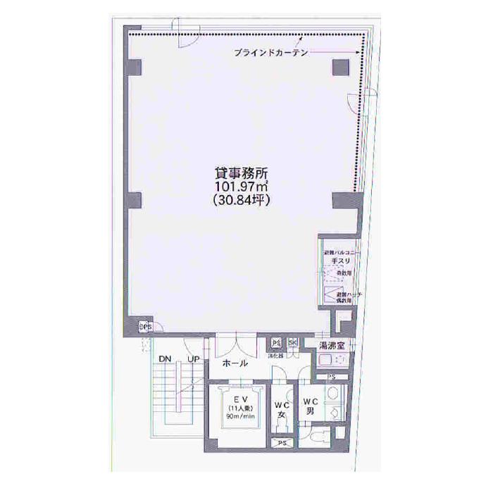 大須3 栄南KTビル 平面図