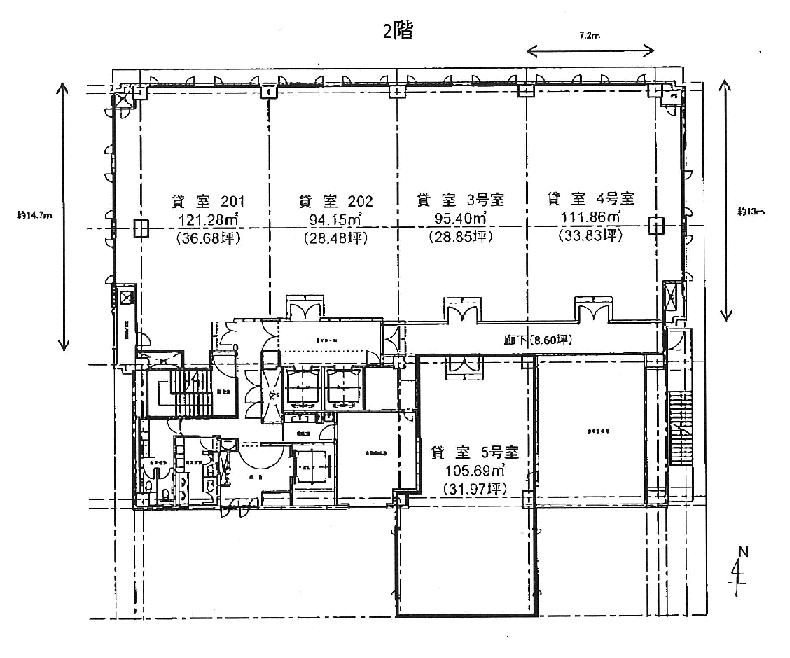 錦2 名古屋鴻池ビル 平面図