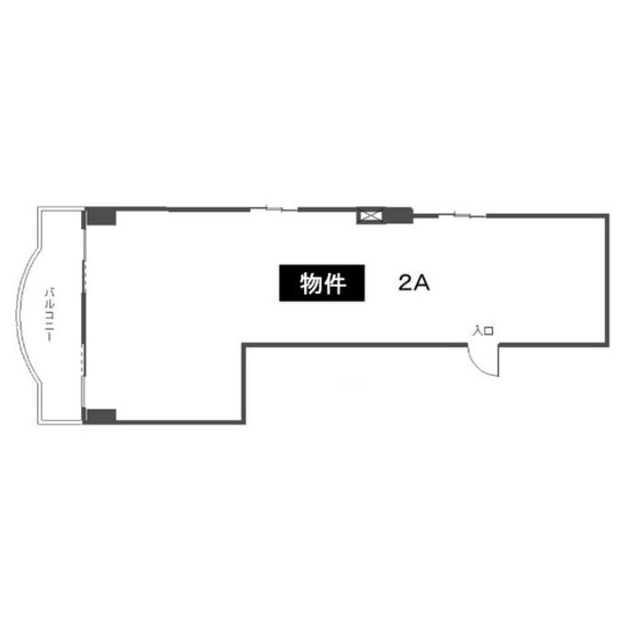 泉1 パークサイド村本ビル 平面図