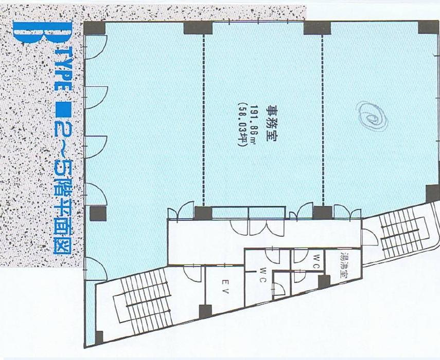名駅3 名駅桜ビル 平面図