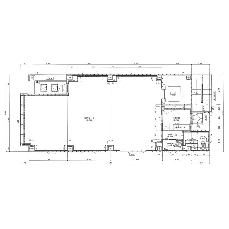 椿町 プリンシパル名駅ビル 平面図