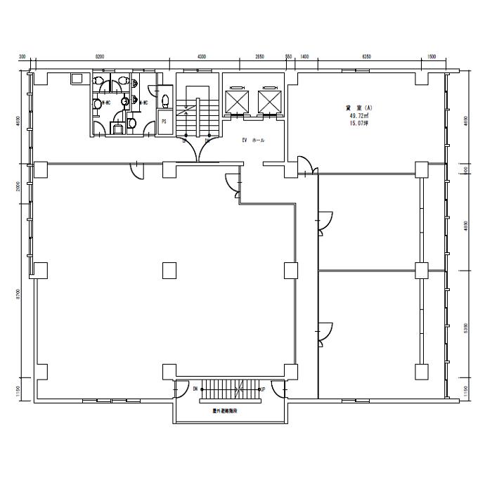 椿町 第2太閤ビル 平面図