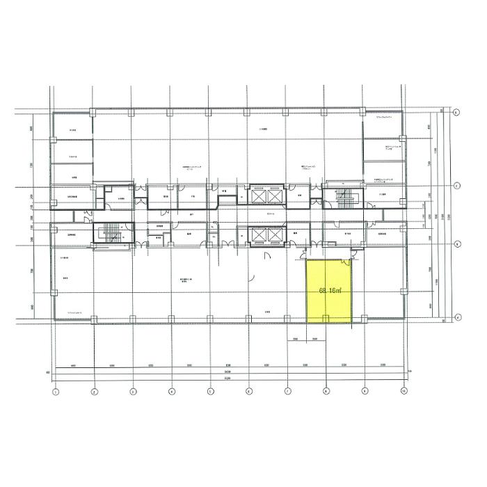 名西2 東芝名古屋ビル 平面図