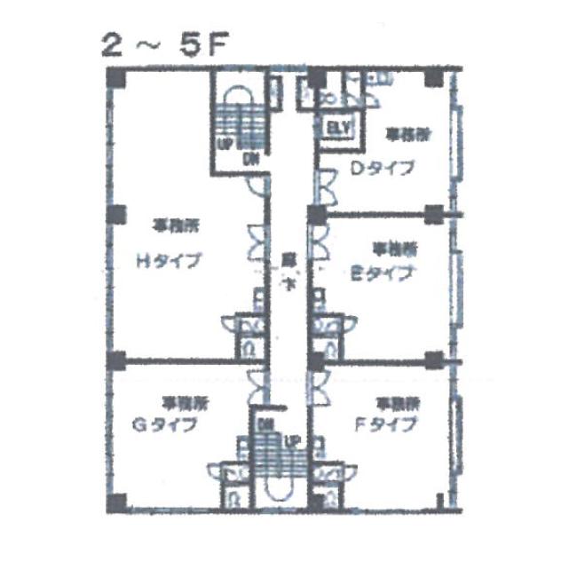 外土居町 トキワ外土居ビル 平面図