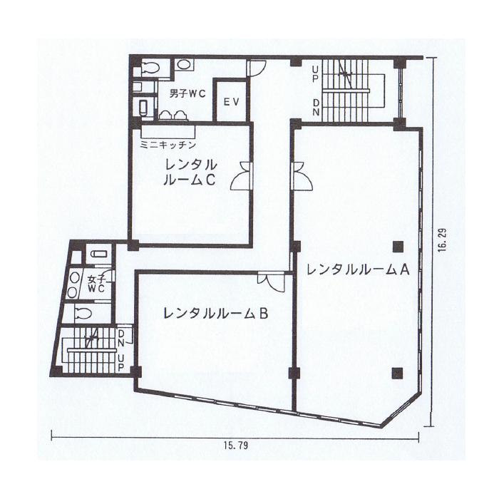大須1 音羽第一ビル 平面図