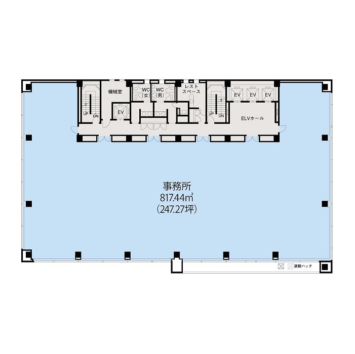 栄1 JPR名古屋伏見ビル 平面図