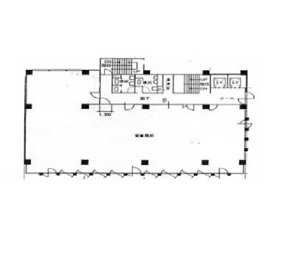 大井町 日重ビル 平面図