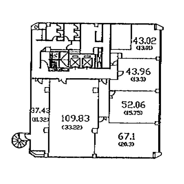 大須4 カジウラテックスビル 平面図