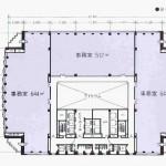 東桜1 NHK名古屋放送センタービル 平面図