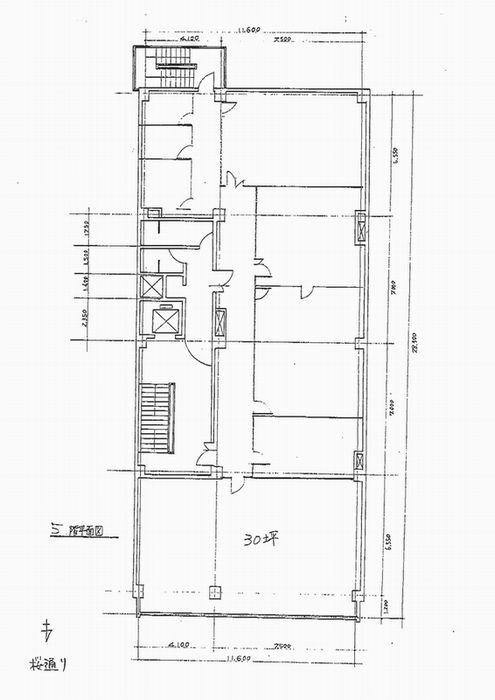 名駅4 ユニモール桜ビル 平面図