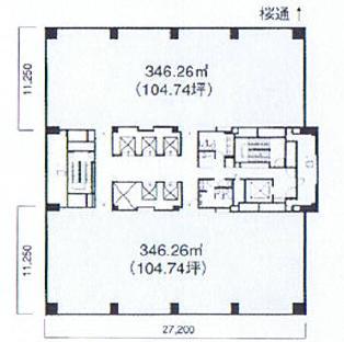 錦2 錦パークビル 平面図