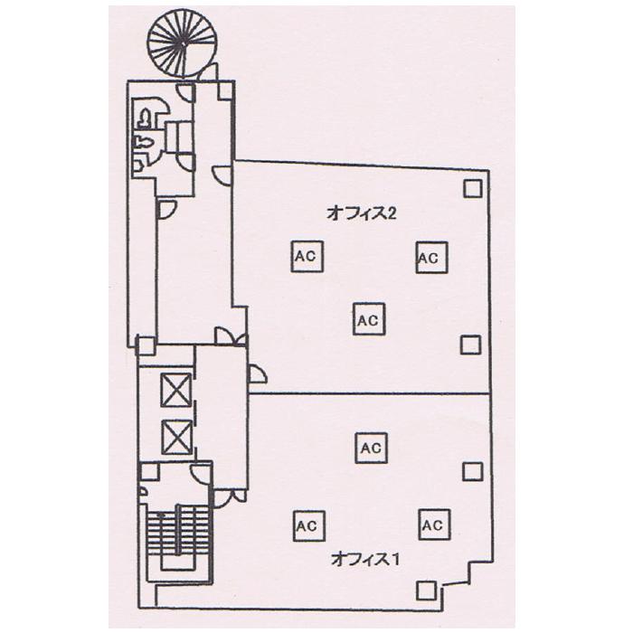 名駅4 名駅UFビル 平面図