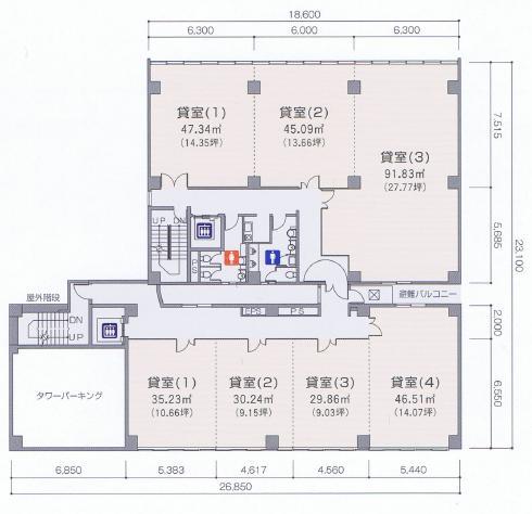葵3 第5オーシャンビル 平面図