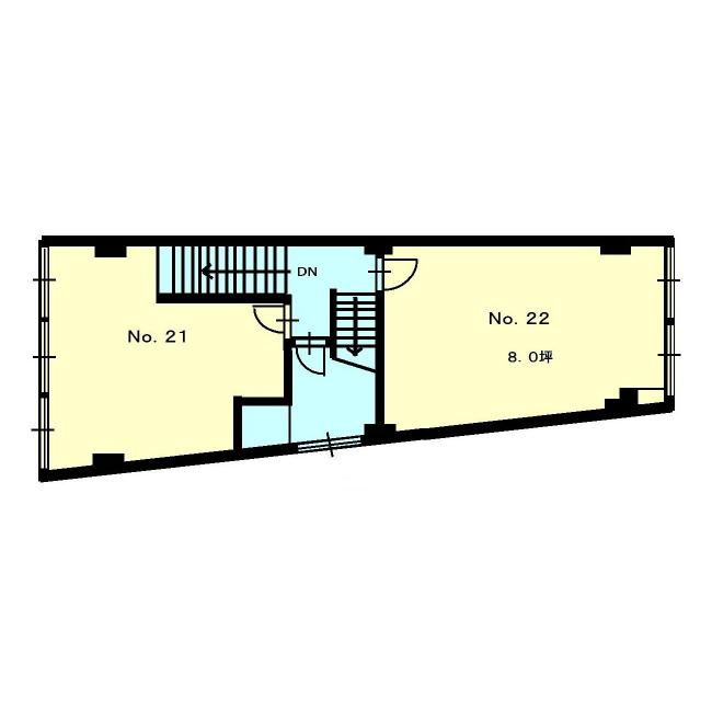 東桜1 イースタンビル北館 平面図