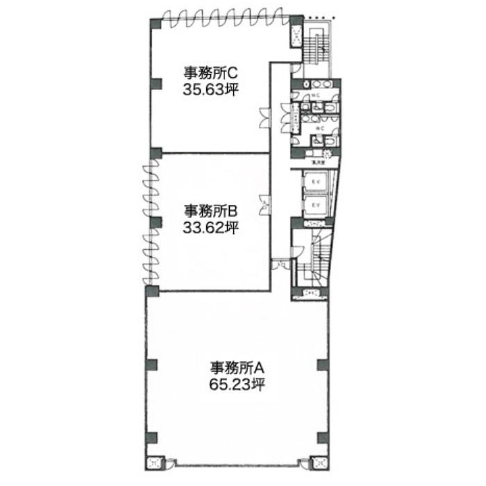 栄3 コスモ栄ビル 平面図