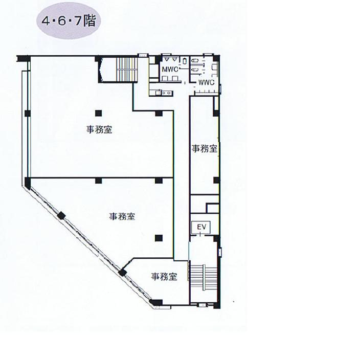椿町 丸元ビル 平面図