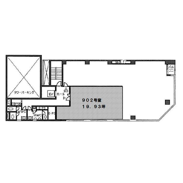 栄2 アイ・エスビル 平面図