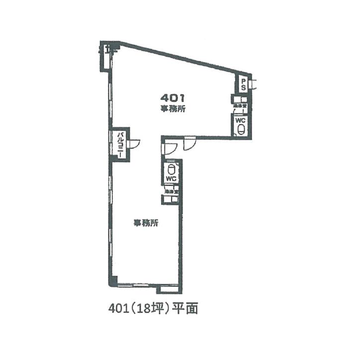 柳原1 チケンビル 平面図