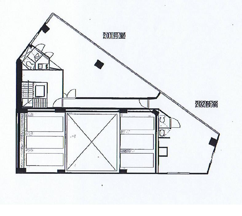 名駅2 第2メビウス名古屋ビル 平面図