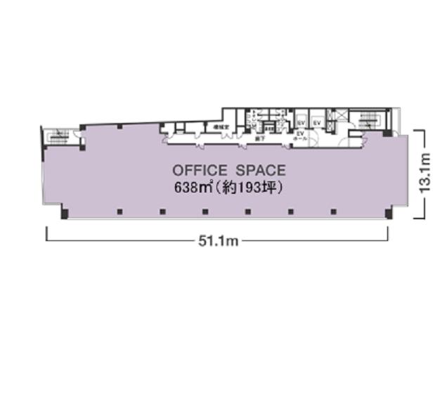 名駅4 ちとせビル 平面図