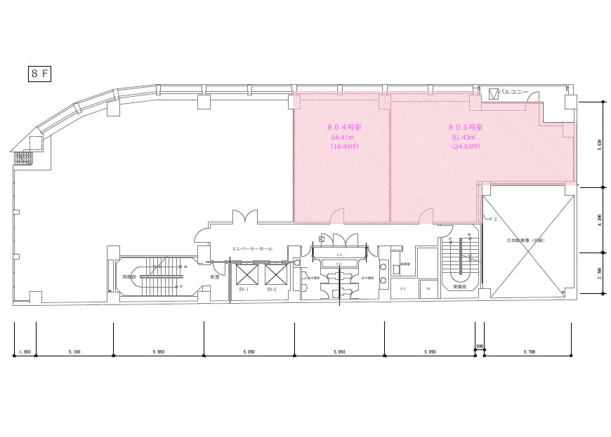 錦3 名古屋郵船ビルディング 平面図