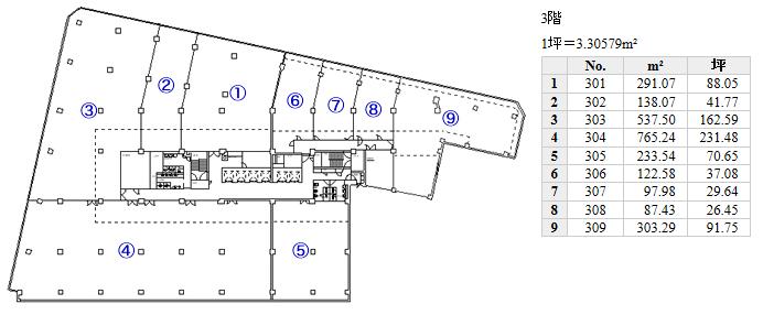 名駅3 大東海ビル 平面図