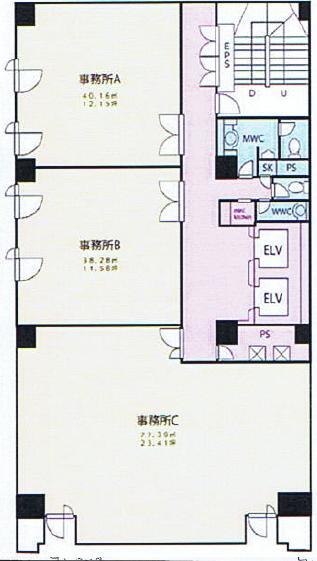 仲田2 ワークビル 平面図