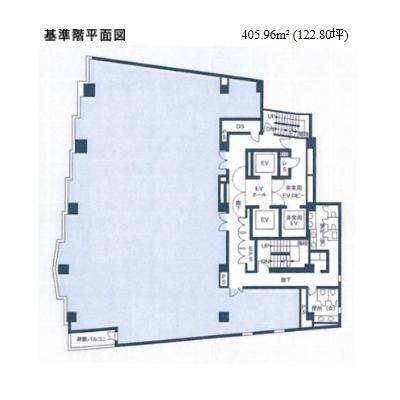 名駅南1 NMF名古屋柳橋ビル 平面図