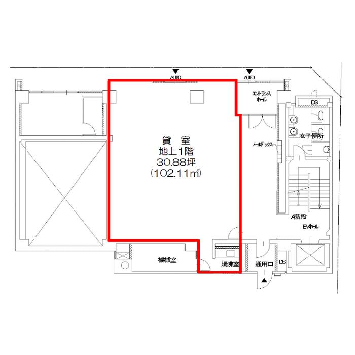 金山町1 電波学園金山第二ビル 平面図