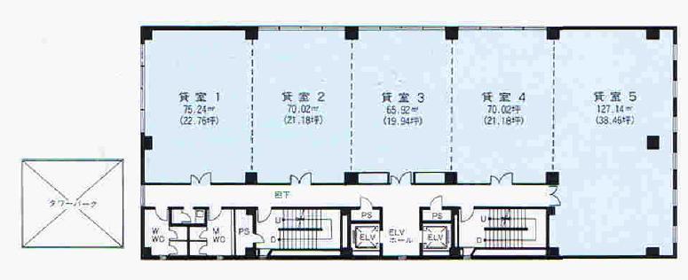 錦2 三永伏見ビル 平面図