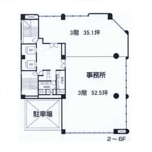 錦1 SUZU1ビル 平面図