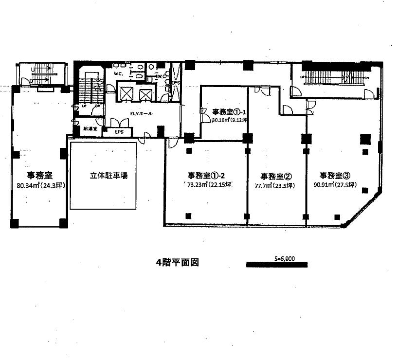 栄3 鏡栄ビル 平面図