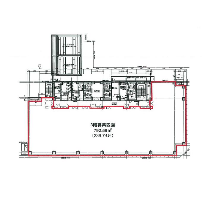 丸の内3 HF伏見ビルディング 平面図