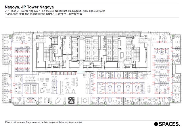 名駅1 SPACES NAGOYA JP TOWER(JPタワー内) 平面図