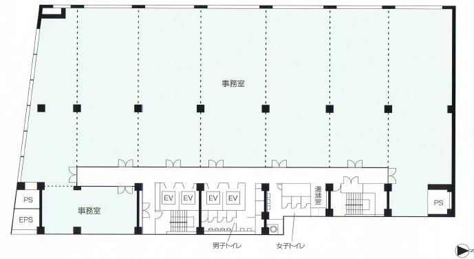 錦1 大永ビルディング 平面図