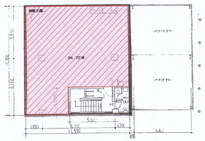 錦1 名興ビル別館 平面図