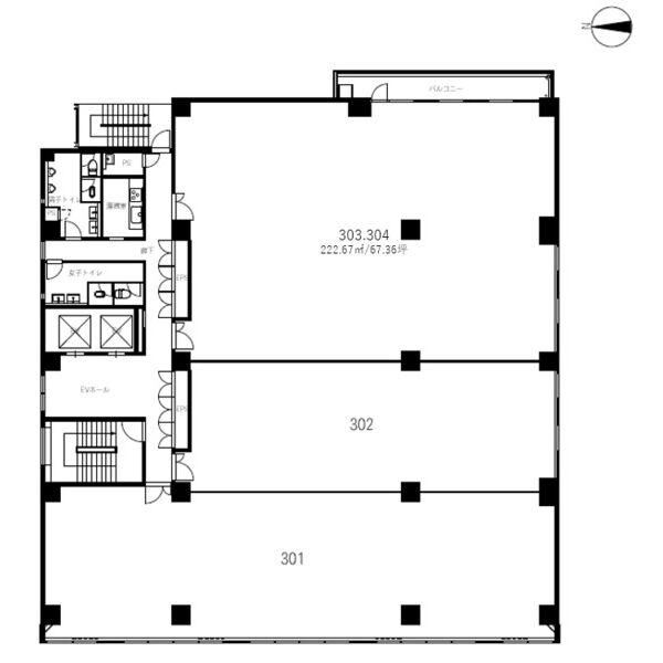 丸の内3 丸の内三丁目ビル 平面図