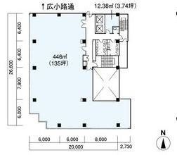 栄2 CK22キリン広小路ビル 平面図