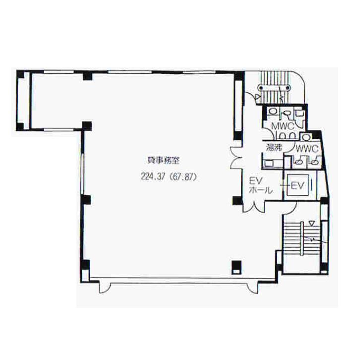 栄3 愛知建設業会館 平面図
