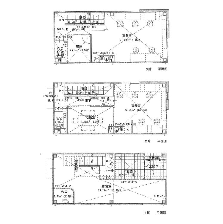 新栄2 新栄二丁目1棟貸事務所 平面図